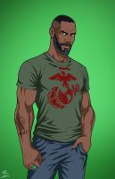 John Stewart (Earth-27) commission by phil-cho