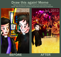 Before-After Meme: The Emergency Call by troisnyxetienne