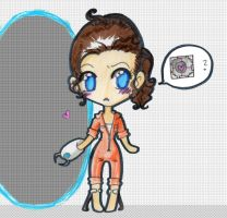 chell by PrincessBlackRabbit