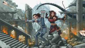 Commission - Archer Battle by RoninDude