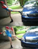 Cammy vs Car (Special Request) by sleeperkid