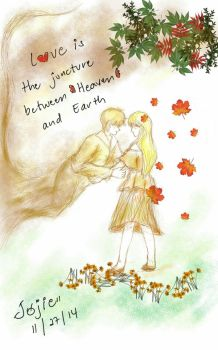 love is a junction between heaven and earth by Chatterbockx