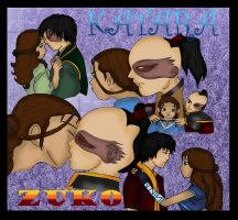 katara Zuko Love part 2 colore by Fallonkyra