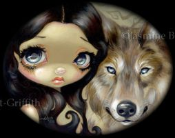 Silver Eyed Wolf by jasminetoad