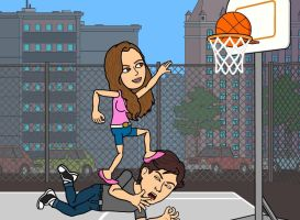 Bitstrips - Basketball game by castleoffeet