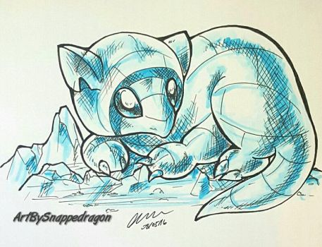 Alola Sandshrew  by Snappedragon