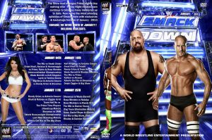 WWE Smackdown 2013 DVD Spine Set Cover by Chirantha