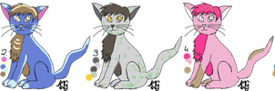 Cats - Adoptable by A-Blue-Fire