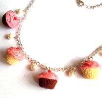 Homemade Cupcake Necklace by FatallyFeminine