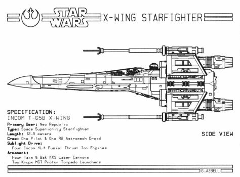 X-Wing Starfighter by grazbell