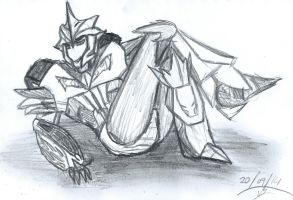 Just Chilling - Knock Out Sketch by doomiscool