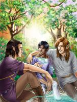 Eihall, Quinne and Salo by Autumn-Sacura