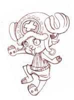 Tony Tony Chopper ::Onepiece Commission Sketch:: by YamPuff