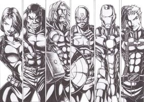 The Avengers ink by Osmar-Shotgun