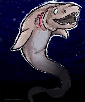 frilled shark by Canis-Infernalis