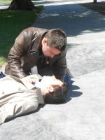Cosplay: Dean and Castiel 7 by SharysAogail
