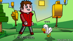 Steve and the Chicken. by Shuriami