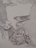Mirium and The Guardians [before coloring] by RMTG