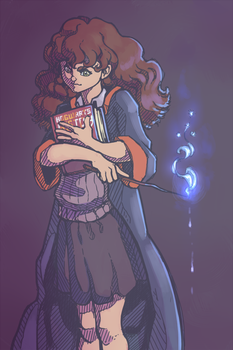 Hwite Hermione from daily doodles by LiarJohnny