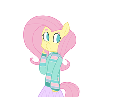 Fluttershy's in a sweater! ( My Little Pony ) by PatootieCutie