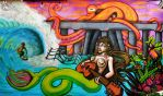 Huntington Mermaid Mural by Max-Johnston