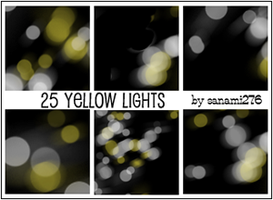 Yellow defocused lights by Sanami276
