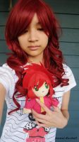 Kurama Red Wig and Plush by me0w-kittyy