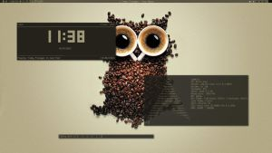 Cafe owl lait by lamurian
