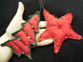 Hand Made Christmas Ornaments by oceanstarr