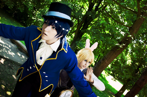 Vocaloid cosplay // Alice in Musicland, Kaito, Len by DAIxSORA