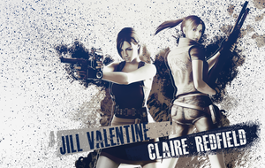 Jill Valentine n Claire Redfield wallpaper by VickyxRedfield