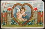 Vintage Postcard - Cupid Plays The Heartstrings by KarRedRoses