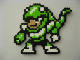 SnakeMan Bead Sprite MM3 by ktyure