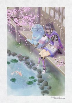 :: By the Koi Pond :: by ShiroMisaki