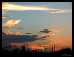 Another August Monsoon Sunset by RooCat