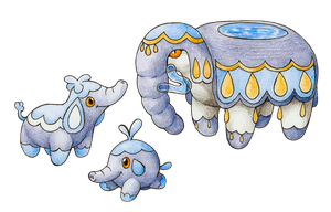 Elephant Water Starters by FakeMakeT