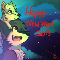 happy New Year 2013 by mysteriousthewolf