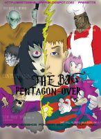 The Big Pentagon Over  Cover by Batzarro