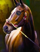 Painting of a Horse by Ospreyghost13