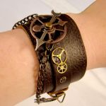 Steampunk Fetish Leather Cuff by SteamSociety