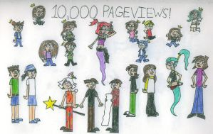 10,000 PAGEVIEWS by HeartlessSlayer