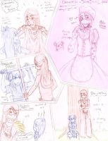 Sketch dump-Azami and Clement by JustLex