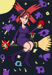 Flannery the Fire-type Witch Gym Leader by Dracoknight545