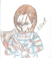 Chucky and his hatchet by Laquyn