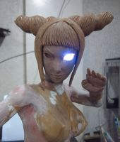Juri Han 1:4 scale mixed media WIP3 by chiseltown