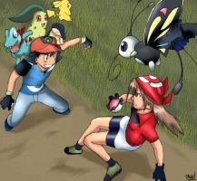 Pokemon -- Ash vs. May by thiro