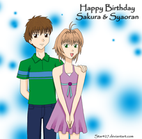 Sakura and Syaoran HBD by YuiHoshi