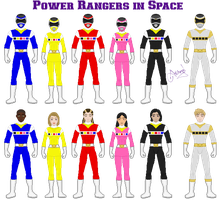 Power Rangers in Space by Ameyal