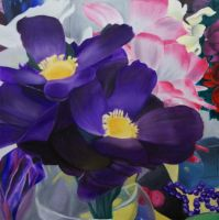 Floral Still Life Painting by ellyabby