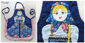 Russian Doll Kitchen Apron by BaziKotek